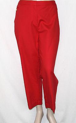 NEW Style & Co. Plus 24W Slim Leg Double Weave Ankle Pants CORAL