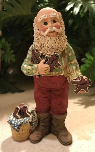 "Adorable Santa Claus with Gingerbread Man 6"" Figurine"