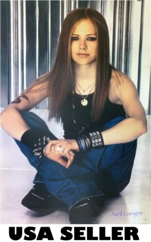 Avril Lavigne contemplative early career POSTER 21 x 31 now HTF (sent FROM USA)
