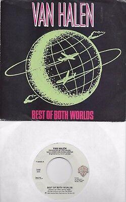 VAN HALEN  Best Of Both Worlds / Best of Both Worlds live rare 45 with