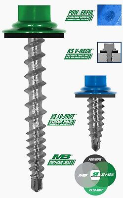 17 Colors Pole Barn Screws 10 Metal Roofsiding Woodbinder - 50 Count