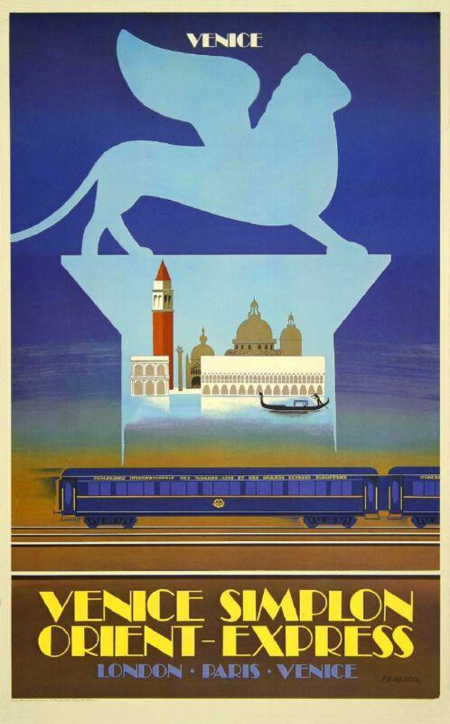 Orient-Express Venice Italy Paris London European Travel Poster Advertisement