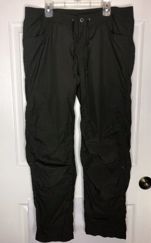Women's Exofficio Convertible Hiking Pants Snap Roll Up Green Size 6