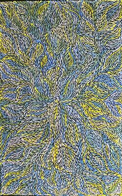 JEANNIE PETYARRE, Authentic Aboriginal Art. Size 150 x 100cm  beautiful work