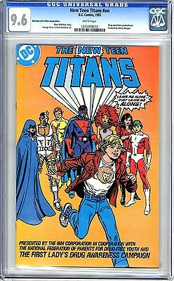 The New Teen Titans   Nn  Cgc  9 6  Nm    Wht Pgs First Lady S  Lady S Drug Awar