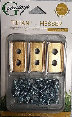 Landroid Worx 30 Titan Messer Klingen in wiederverschließbarer Verpackung