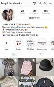 Women's clothing! CHECK OUT @frugal.fun.closet on IG for more!