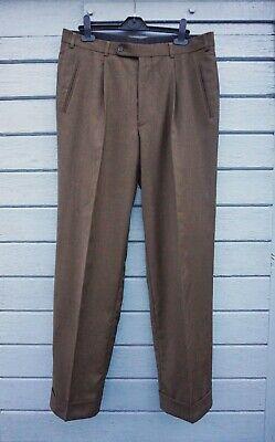 Men's 100% wool RPR£220 HILTL Relax trousers pants 52 36/30 plus size XL flat