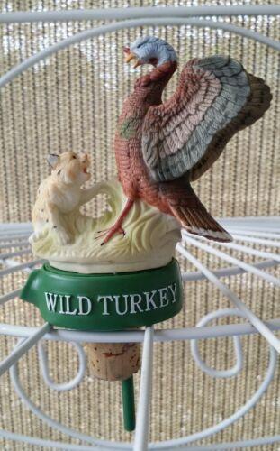 Vintage Barware Wild Turkey Bottle Topper Pourer Stopper - Rare turkey & bobcat