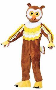 Give a Hoot Owl Plush Mascot  Halloween Costume Adult Std Size Bird Animal New
