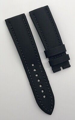 Authentic Blancpain Fifty Fathoms Black Sailcloth 23mm x 20mm Watch OEM 45E
