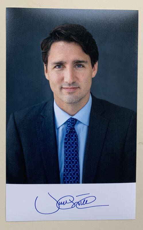 5x8 Justin Trudeau Autopen Signature Photo Canada Prime Minister