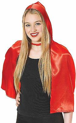 Sehr schöner Rotkäppchen Umhang Cape Rot Märchen Fasching Zubehör (Märchen Kostüme Accessoires)