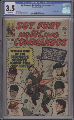 SGT. FURY AND HIS HOWLING COMMANDOS #12 - CGC 3.5 - 1226194001