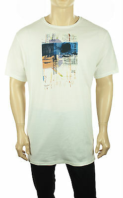 NEW MENS NAUTICA CREW NECK WHITE COTTON GRAPHIC T SHIRT TEE