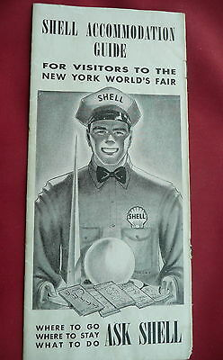 1939 Accommodation Guide New York World's Fair n/map shell gas oil 8 pages