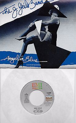 J GEILS BAND  Angel in Blue / River Blindness 45 with PicSleeve