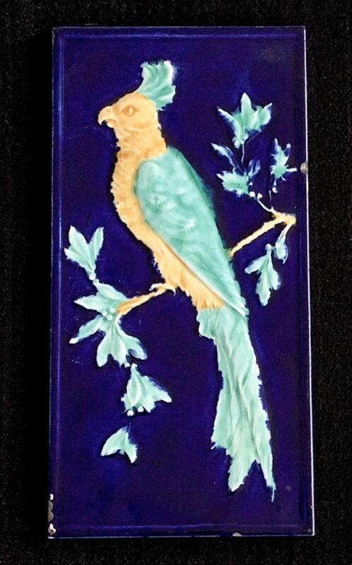 American Encaustic Tiling Co ~ Parrot ~ Bird ~ Tile ~ Zanesville, Ohio