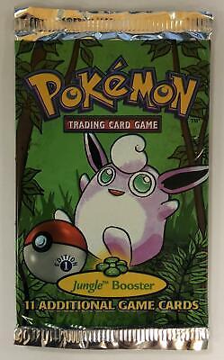 Pokemon Jungle 1st Edition Booster Pack - Wigglytuff Art HEAVY