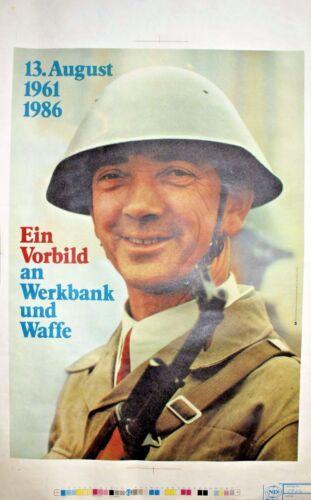 1 Original East German Communist Poster 1980`s, Border Propaganda - 100% UNIQUE!