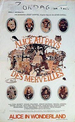 ALICE'S ADVENTURES IN WONDERLAND 1972 Spike Milligan, Peter Sellers BELGIAN