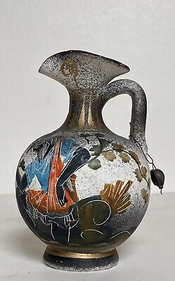 Ancient Greek hand painted Amphora Jug Handled Vase museum copy