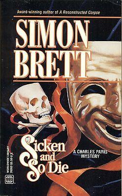 Sicken And So Die By Simon Brett Worldwide Pb 1995 1998 Charles Paris Mystery