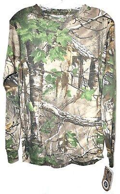 RealTree Xtra Green Ranger Camo Long Sleeve Pocket T-Shirt Men's Sz Small NWT