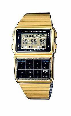 Casio Men's Retro Gold 25 Memory Calculator Data Watch DBC-611G-1D, DBC611G-1