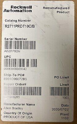 Ab 2711p-rdt10c Panelview 1000 Series B 2020manufacturer Refurbished Sealed