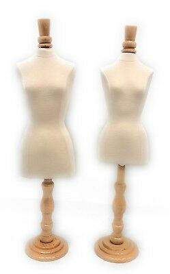 Mini Jewelry Display Female Dress Form White - Fully Pinnable With Base
