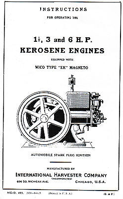 International Book Service Manual Gas Engine M Motor Wico Ek Magneto Hit Miss Ih
