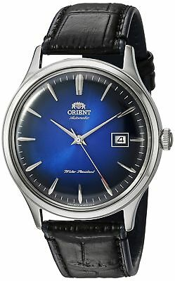 Orient Men's 'Bambino Version 4' Japanese Automatic Stainless Steel and Leath...