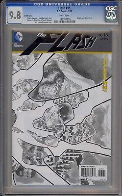 FLASH #15 (MANAPUL BLACK AND WHITE VARIANT) / CGC 9.8 / 1131382010