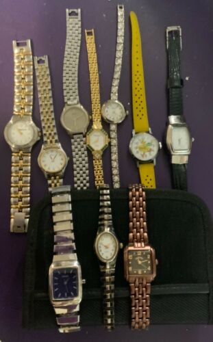 10 piece Mixed lot as-is watches as shown
