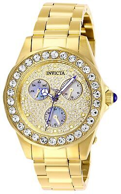 Invicta Women's Angel 28462 38mm Charcoal Dial Stainless Steel Watch