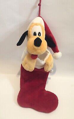 Disneyland Walt Disney World Pluto Dog Large Plush Christmas Stocking