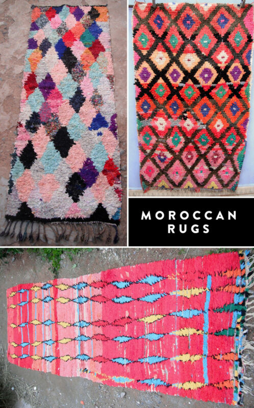 Vintage Moroccan Boucherouite Rugs found on eBay.