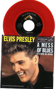 Elvis Presley Color Vinyl 45 RPM - W/ Picture Sleeve - It's Now Or Never