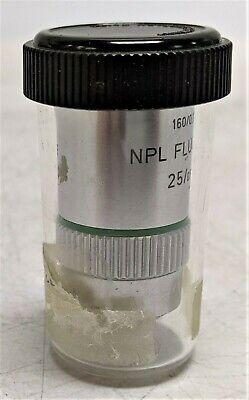 Leitz 1600.17 Npl Fluotar 250.55 Microscope Objective