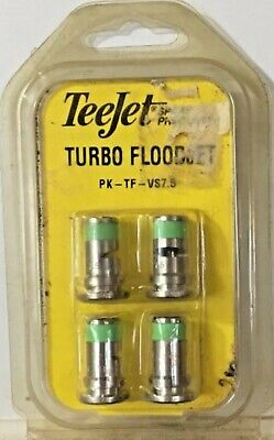 Teejet Turbo Floodjet Tf-vs7.5 Wide Angle Flat Set Of 4