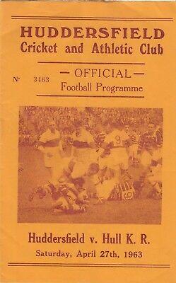 Huddersfield v Hull Kingston Rovers 1962/3 (27 Apr)