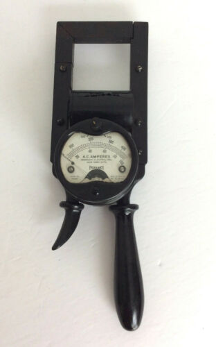 Vintage Rare Ferranti Electric Clamp-on Handheld A.C Amperes England SN A-26307