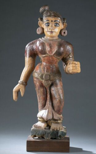 Large 19th century East Indian folk carving