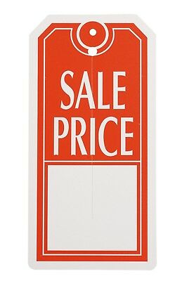 1000 Slit Sale Price Tags 2 W X 4 H Red White Retail Store Merchandise Tag