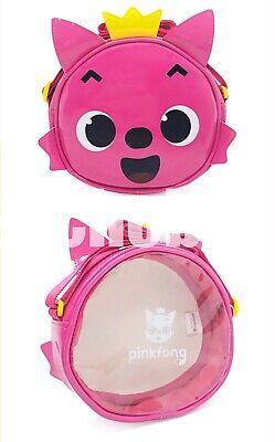 Pinkfong Clear Waterproof PVC Beach Sauna Beach Cross Kids Messenger Bag Pink