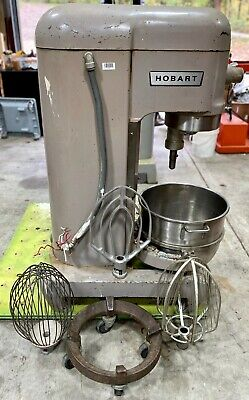 Hobart 60qt Mixer H-600t 60 Quart Bakery Pizza Dough Dolly Bowl Paddle 3ph 1hp