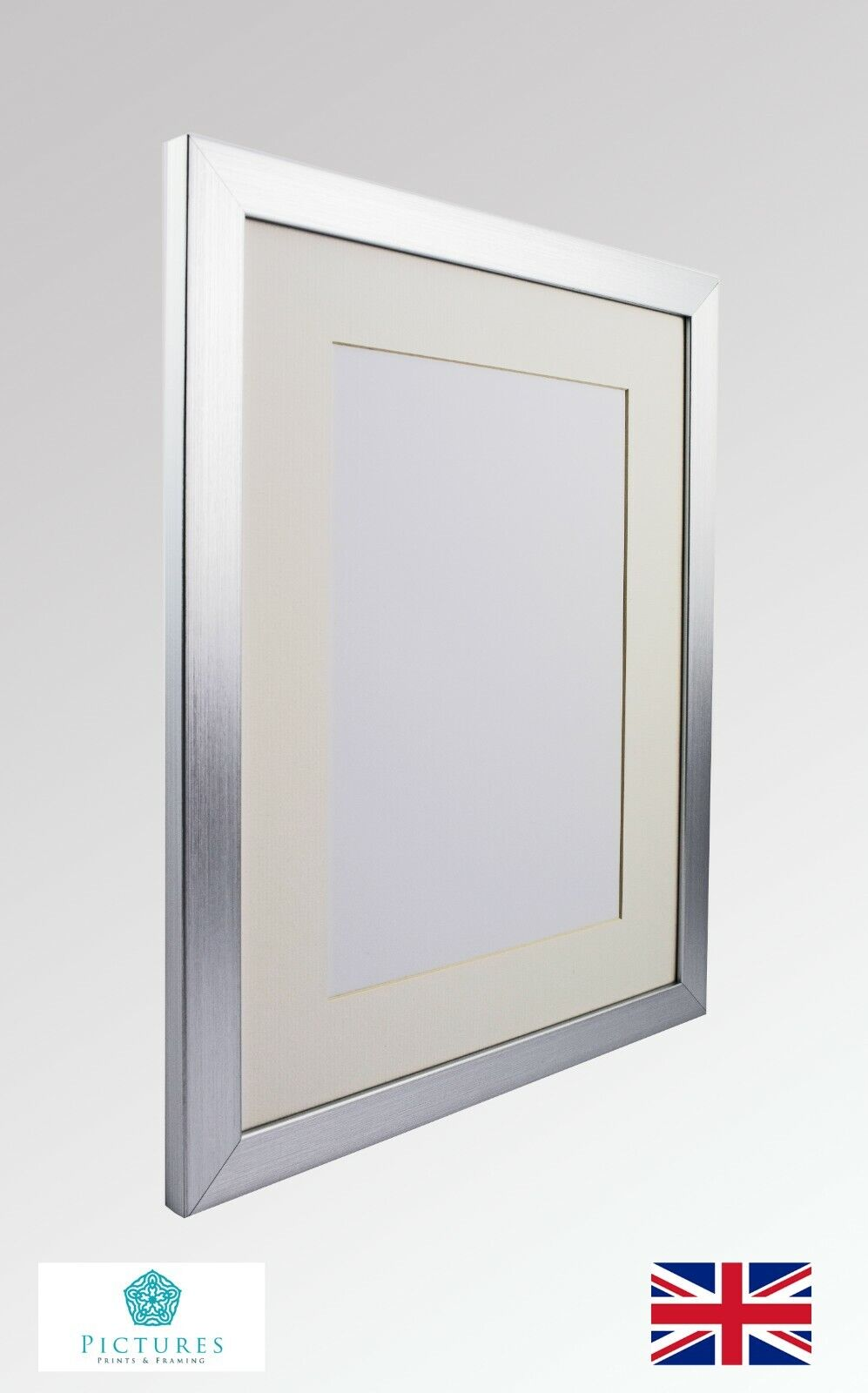 White Wood Picture Frame Made To Display Artwork Measuring 14x17 Inches
