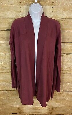 Lululemon Blissful Zen Sweater Cardigan So Merlot Pink Mauve Side Slit 4