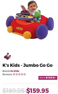 Giant Soft Car K's Kids Jumbo Go Go retail $ 159 Guildford Parramatta Area Preview
